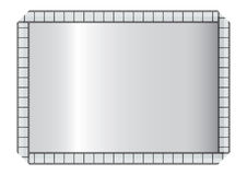 Filmstrip frame. Silver style in white background Royalty Free Stock Photos