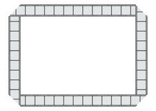 Filmstrip frame plain. Filmstrip frame in white background Royalty Free Stock Photo