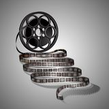Filmstrip on a gray background. Vector Stock Photo