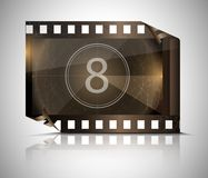 Filmstrip on a gray background. Vector Royalty Free Stock Photos