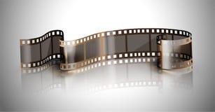 Filmstrip on a gray background. Filmstrip isolated on a gray background Royalty Free Stock Photos