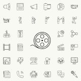Filmstrip icon. Detailed set of Media icons. Premium quality graphic design sign. One of the collection icons for websites, web de. Sign, mobile app on colored Stock Photography
