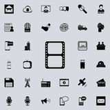 Filmstrip icon. Detailed set of minimalistic icons. Premium graphic design. One of the collection icons for websites, web design,. Mobile app on colored Stock Photos