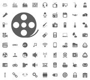 Filmstrip icon. Media, Music and Communication vector illustration icon set. Set of universal icons. Set of 64 icons.  Royalty Free Illustration