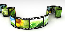 Filmstrip with images. 3d render Stock Photography
