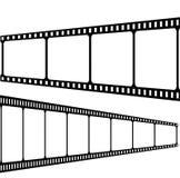 Filmstrip a isolé sur le fond blanc Image libre de droits