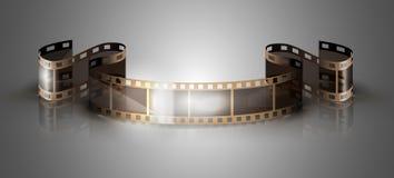 Filmstrip on a gray background. Filmstrip isolated on a gray background Royalty Free Stock Photo