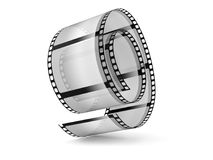 Filmstrip. Isolated on white background/ Cinema concept Stock Photography