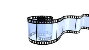 Filmstrip  isolated on white. Camera film isolated on white background 3d render Stock Image