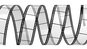 Filmstrip  isolated on white. Camera film isolated on white background 3d render Royalty Free Stock Photo