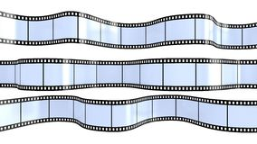 Filmstrip  isolated on white. Camera film isolated on white background 3d render Royalty Free Stock Photography