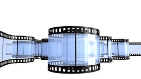 Filmstrip  isolated on white. Camera film isolated on white background 3d render Stock Images