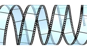 Filmstrip  isolated on white Royalty Free Stock Photography