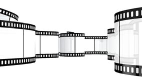 Filmstrip  isolated on white. Camera film isolated on white background 3d render Royalty Free Stock Images