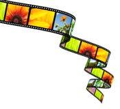 filmstrip isolerat objekt 3d över white royaltyfri illustrationer