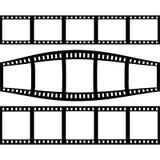 Filmstrip met Drie Verschillende Versies van Film wordt geplaatst die Royalty-vrije Stock Afbeelding
