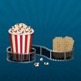 Filmstrip met uitstekend kaartje Royalty-vrije Stock Foto's