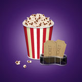 Filmstrip met uitstekend kaartje Royalty-vrije Stock Afbeelding