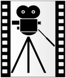 Filmstrip and movie camera Royalty Free Stock Photos