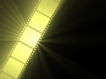 Filmstrip movie sun light flare Stock Photo