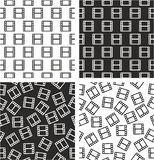 Filmstrip or Moviestrip Aligned & Random Seamless Pattern Set Royalty Free Stock Images