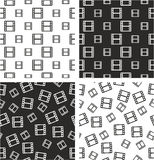 Filmstrip or Moviestrip Big & Small Aligned & Random Seamless Pattern Set Royalty Free Stock Photo