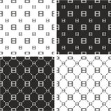 Filmstrip or Moviestrip Big & Small Seamless Pattern Set Stock Photography