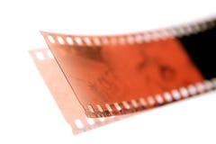 Filmstrip no branco fotografia de stock