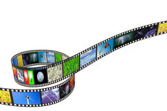 Filmstrip op witte achtergrond Stock Foto