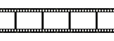 Filmstrip over white background. A filmstrip with blank frames over a white background Stock Image