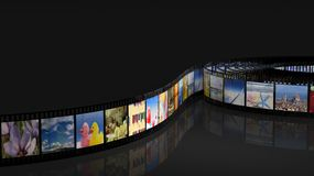 Filmstrip with pictures Stock Images