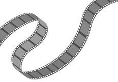 Filmstrip roll. Cinema and movie element or object. Vector illustration isolated on the white background Stock Images