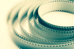 Filmstrip roll dynamic. Full frame closeup Royalty Free Stock Photos