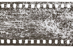 Filmstrip scratched Stock Photo