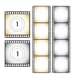 Filmstrip set illustration on white. Background Stock Photography