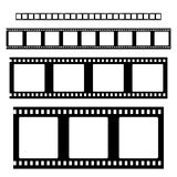 Filmstrip set vector. Filmstrip  set  vector . Empty Film strip frames Royalty Free Stock Image