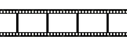 Filmstrip sobre o fundo branco Imagem de Stock