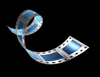 Filmstrip v1. 3d, filmstrip, film, strip transparent with reflection and glas Stock Photo