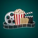 Filmstrip with vintage ticket Stock Image