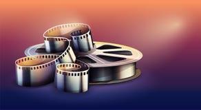 Filmstrip voor de productie van de bioskoopfilm Vector illustratie stock illustratie