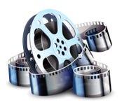 Filmstrip voor de productie van de bioskoopfilm Vector illustratie vector illustratie