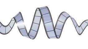 Filmstrip waving. 3D render of filmstrip waving royalty free illustration