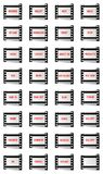 Filmstrip web buttons - cdr format. Web and internet buttons on filmstrip with a blank frame Royalty Free Stock Image