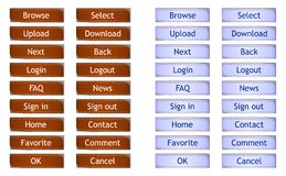 Filmstrip web buttons - cdr format. Web and internet buttons representing filmstrip Stock Photos