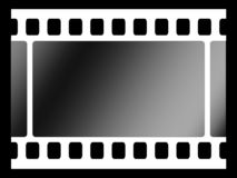 Filmstrip_wide. Filmstrip pattern_black and white illustration Stock Photo