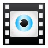 Filmstripe eye. Isolated on white Stock Photography