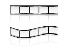 Filmstripes. Illustration of simple filmstripes with shadow Royalty Free Stock Photography