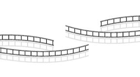 Filmstrips. The picture shows filmstrips isolated on white background Stock Photo