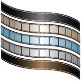 Filmstrips. Set of  filmstrips of different shades Royalty Free Stock Photos