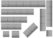 Filmstrips. Set of filmstrips  illustration Stock Photo